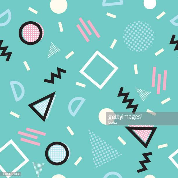 seamless 90's background - 1990 1999 stock illustrations