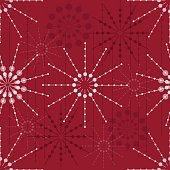 seamless abstact floral pattern on red background