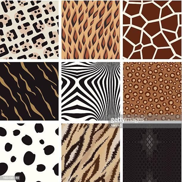seamless abstract animal background pattern - snakeskin stock illustrations