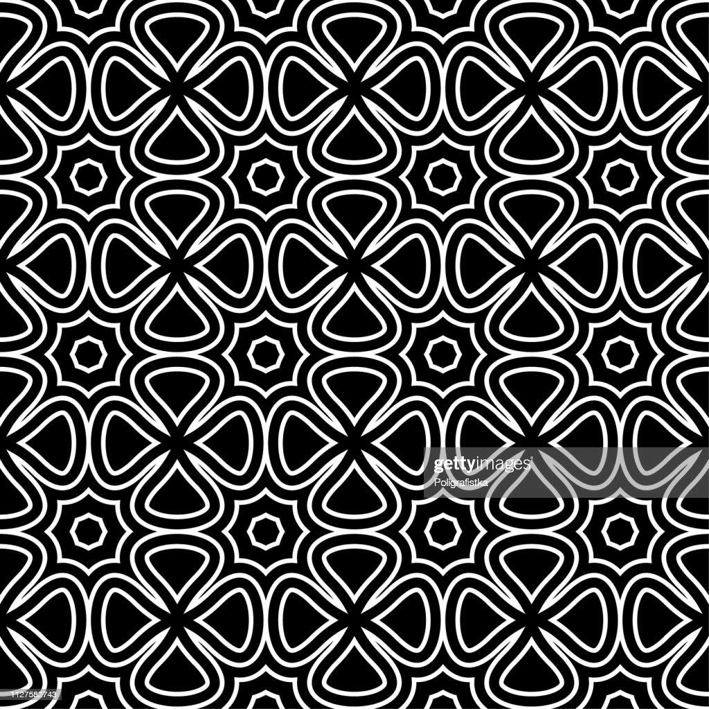 シームレスな抽象的な背景パターン 黒灰色の壁紙黒と白のベクトル図