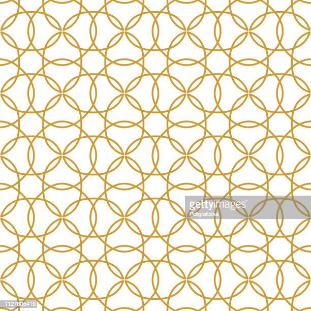 seamless abstract background pattern - gold wallpaper - vector illustration - toned image stock illustrations