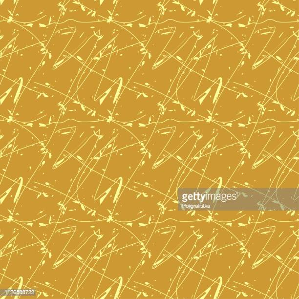seamless abstract background pattern - lines and blots - gold wallpaper - vector illustration - pap smear stock illustrations, clip art, cartoons, & icons