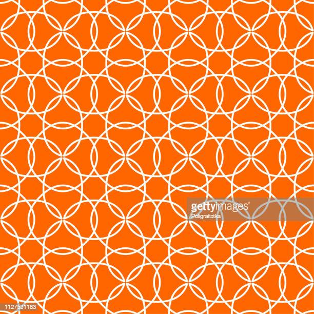 Seamless abstract background pattern - orange wallpaper - vector Illustration