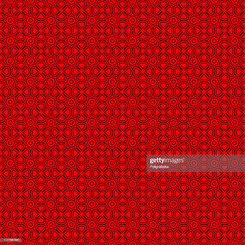 シームレスな抽象的な背景パターン 赤黒壁紙 ベクター イラスト