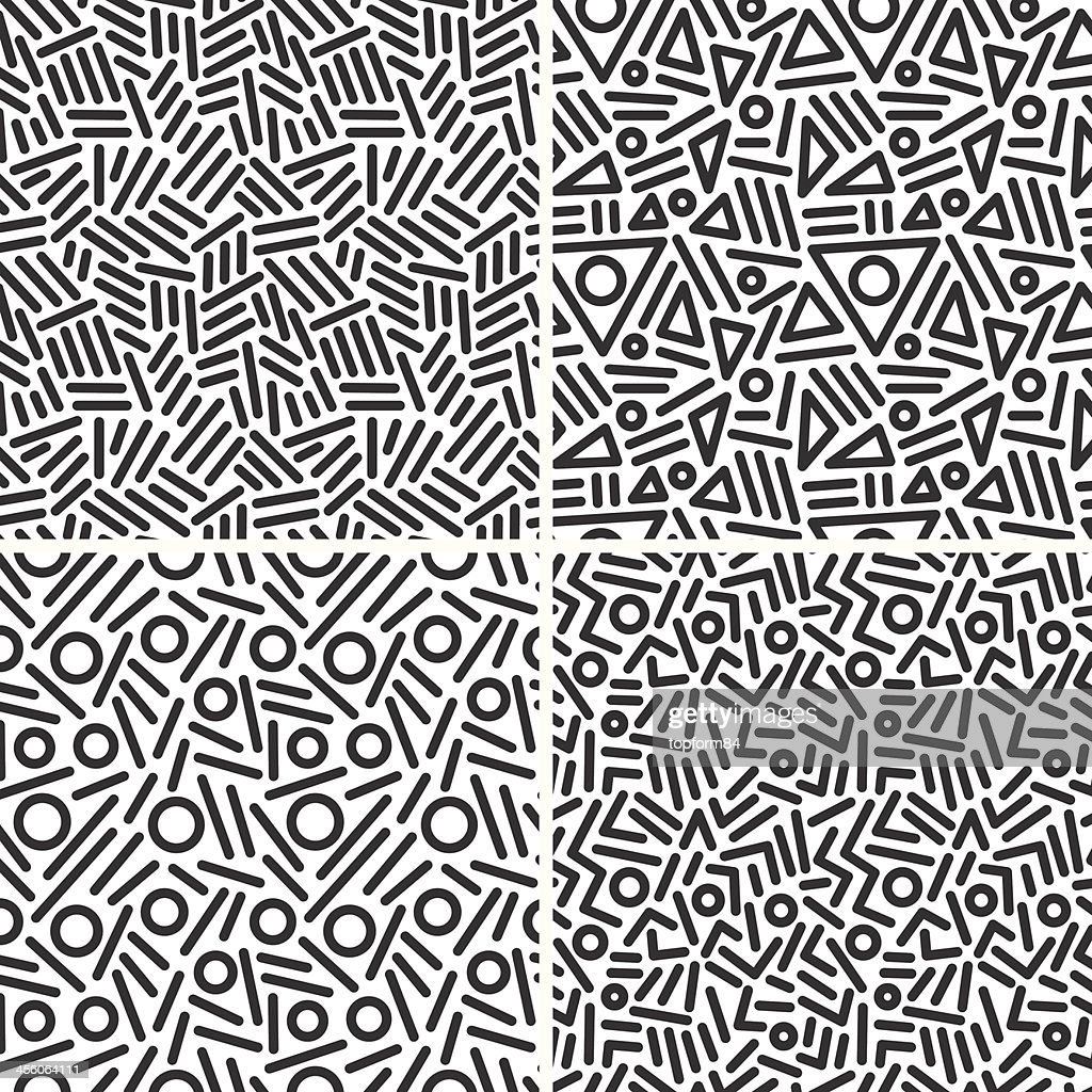 seamless abstract backgrounds set