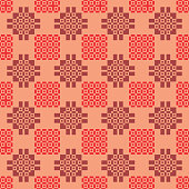 Seamless abstract geometric pattern in shades of red