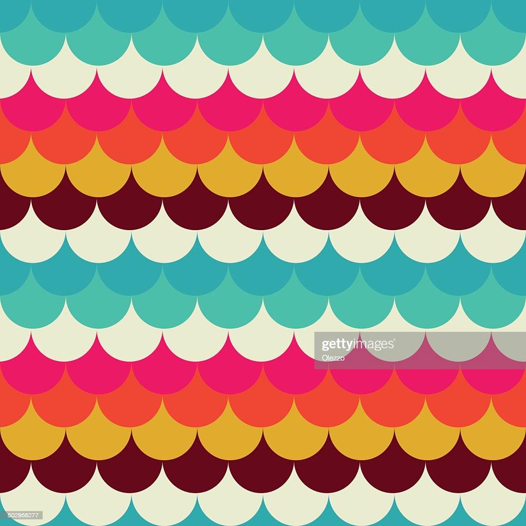 Seamless abstract pattern retro circles