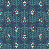 Seamless abstract pattern with peacock feather. Decorative peacock texture