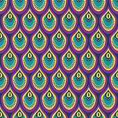 Seamless abstract pattern with peacock feather