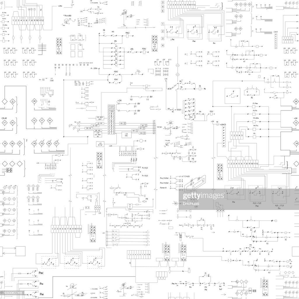 seamless abstract scheme pattern