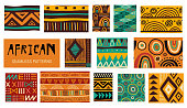 Seamless African modern art patterns. Vector collection