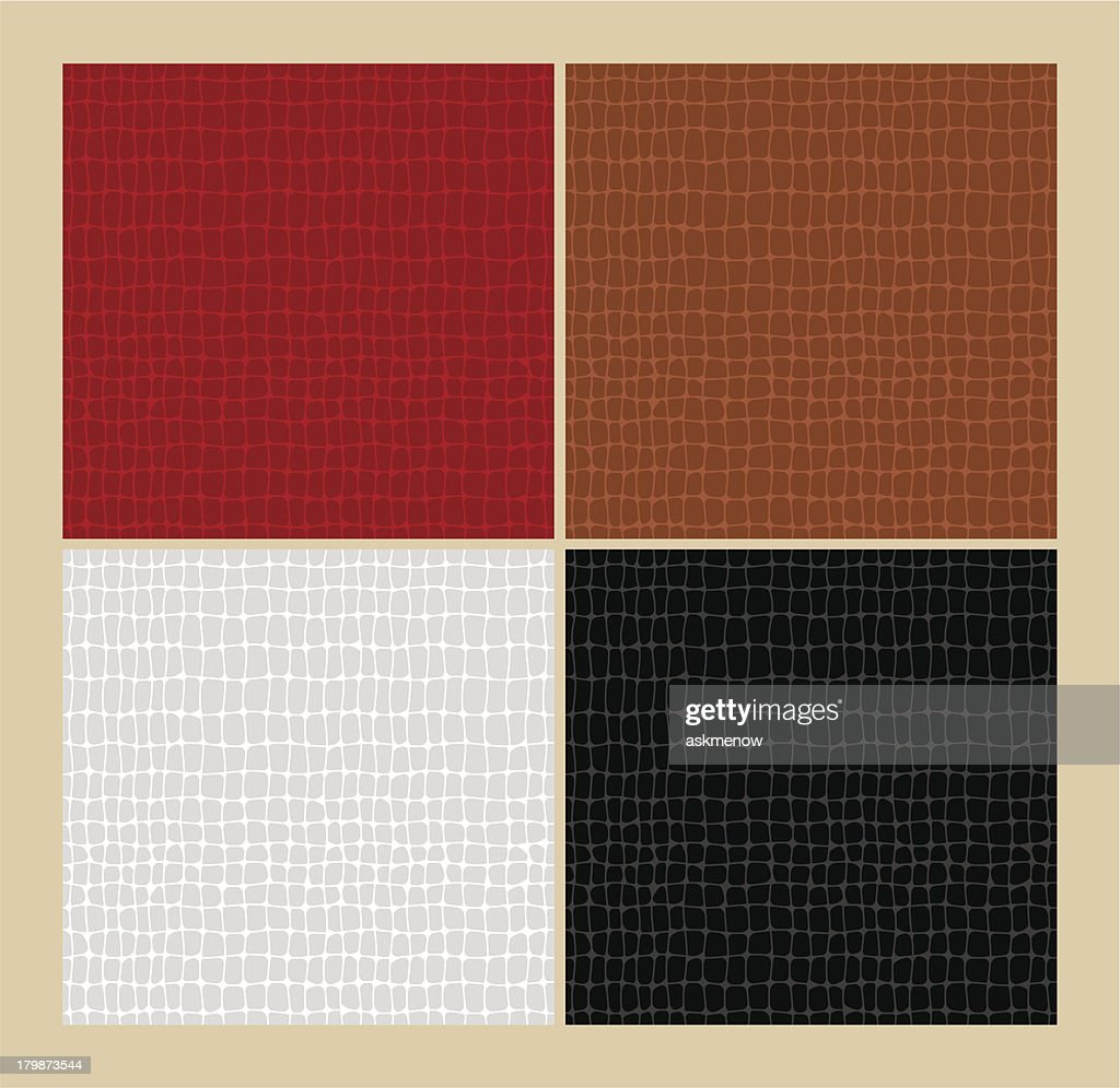 Seamless alligator skin patterns