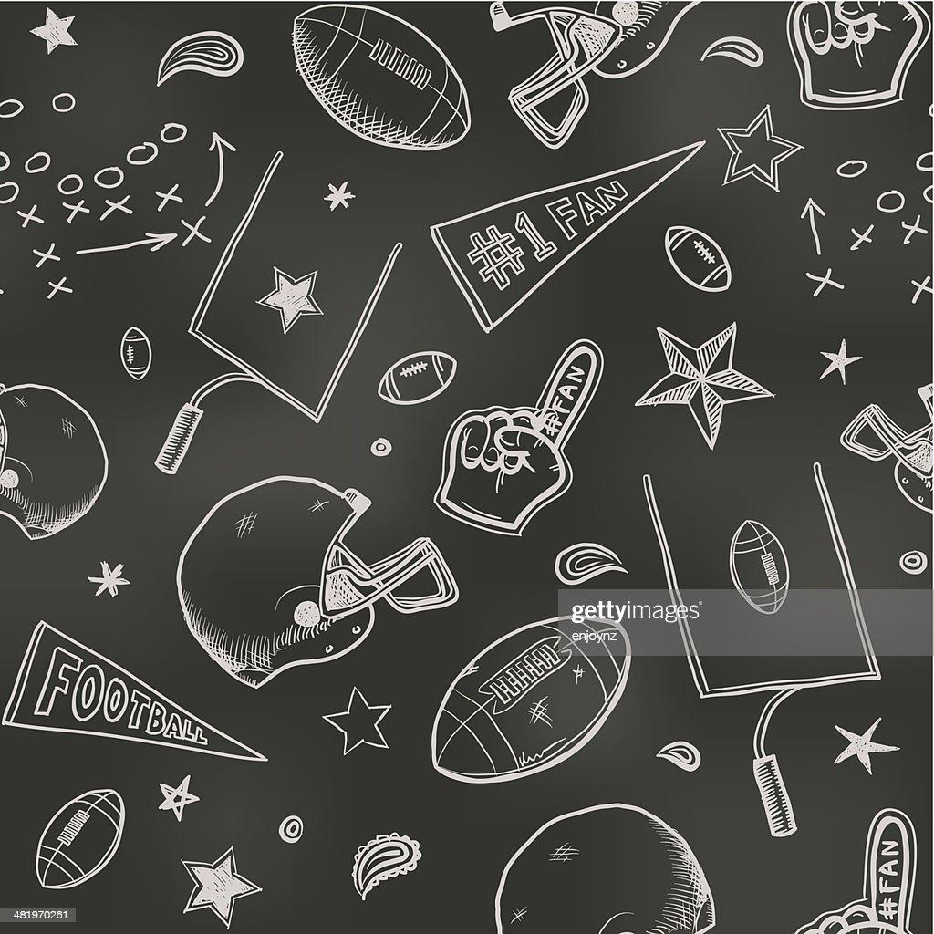 Seamless American football background : Stockillustraties