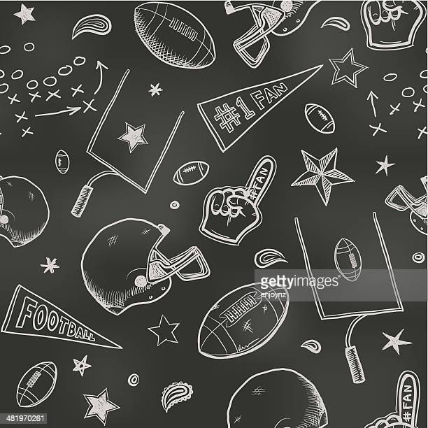 stockillustraties, clipart, cartoons en iconen met seamless american football background - football