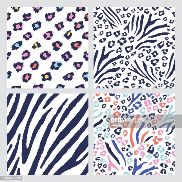 シームレスな動物の肌のパターン - レオパード柄点のイラスト素材/クリップアート素材/マンガ素材/アイコン素材