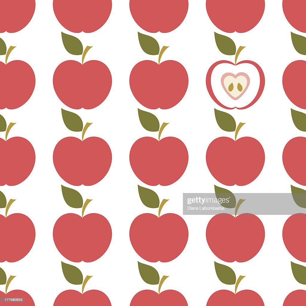 Seamless Apples pattern