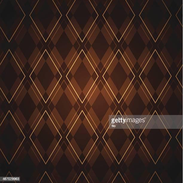 seamless argyle pattern - brown stock illustrations