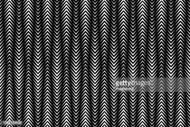 Seamless arrow background pattern - black and white wallpaper - vector Illustration