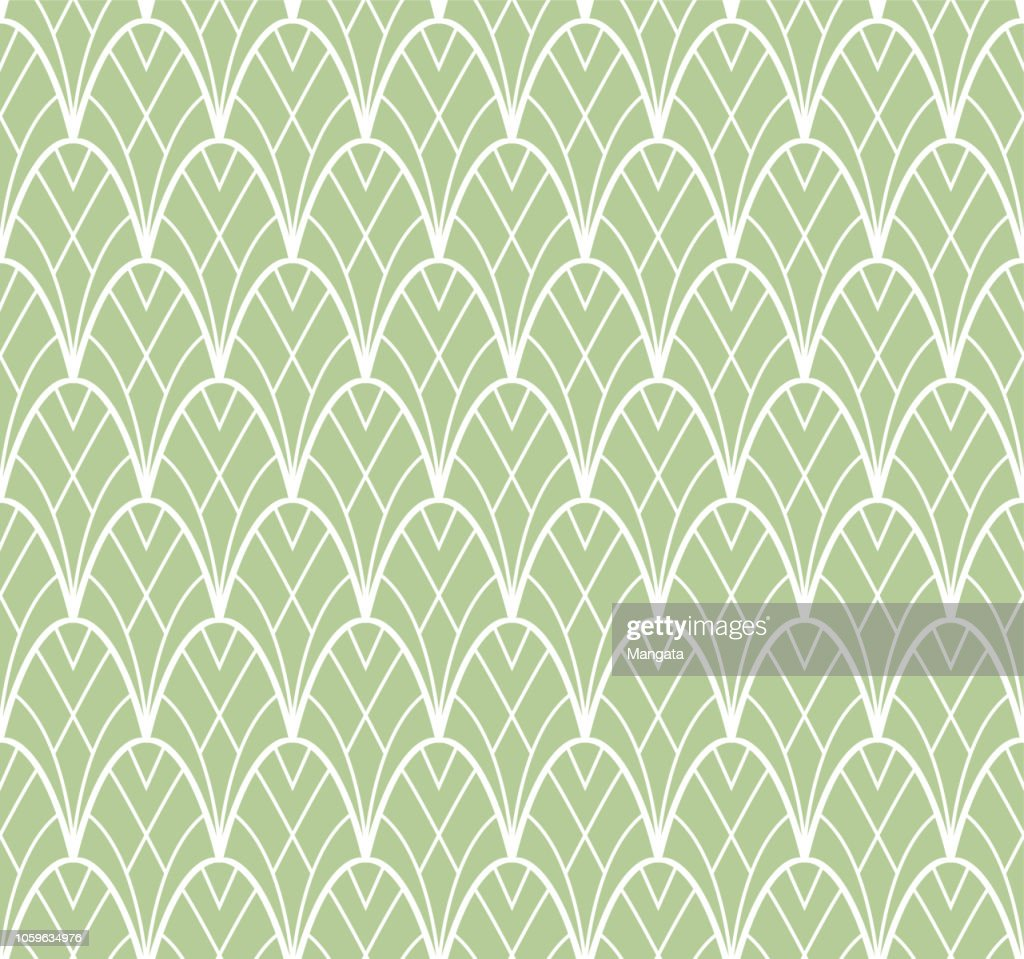 Seamless Art Deco Pattern. Stylish antique background.