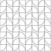 Seamless Art Deco vintage geometric leaf style tracery pattern