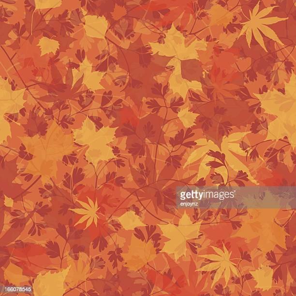 seamless autumn background - autumn stock illustrations