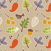 Seamless autumn leaf pattern