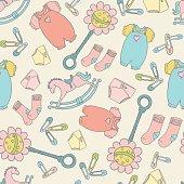 Seamless Baby Background Pattern