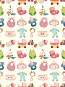 seamless baby element pattern