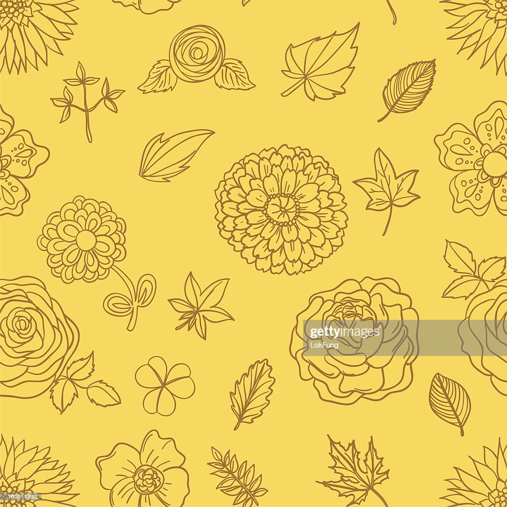 Seamless background - Flowers