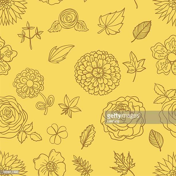 seamless background - flowers - carnation flower stock illustrations, clip art, cartoons, & icons