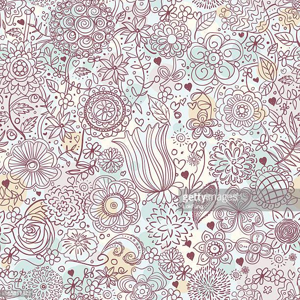 ilustrações, clipart, desenhos animados e ícones de sem costura fundo -flores - spire