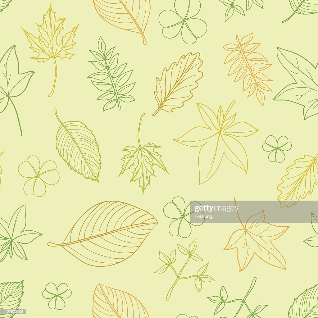 Seamless background -Leaf