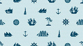 seamless background on the theme of sea travel