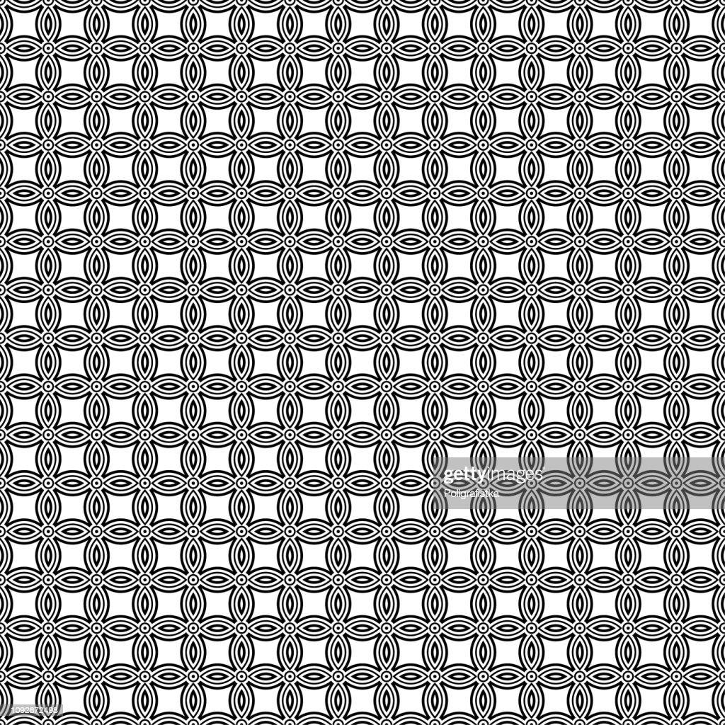 シームレスな背景パターン 黒と白の壁紙 ベクター イラスト ストック