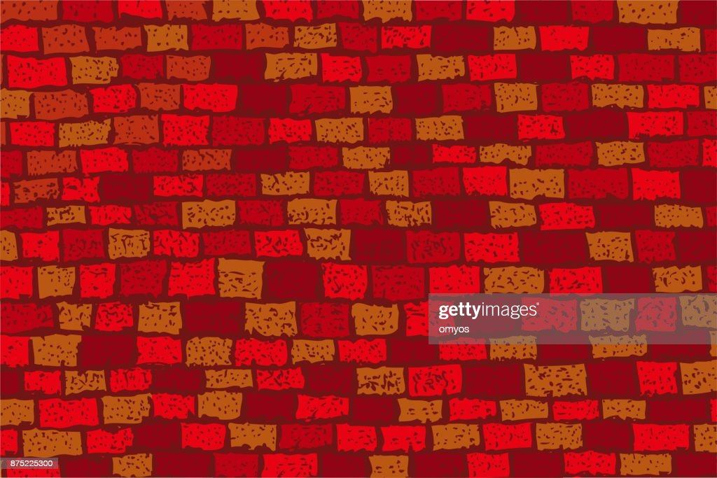 seamless Background - Red Brick Wall