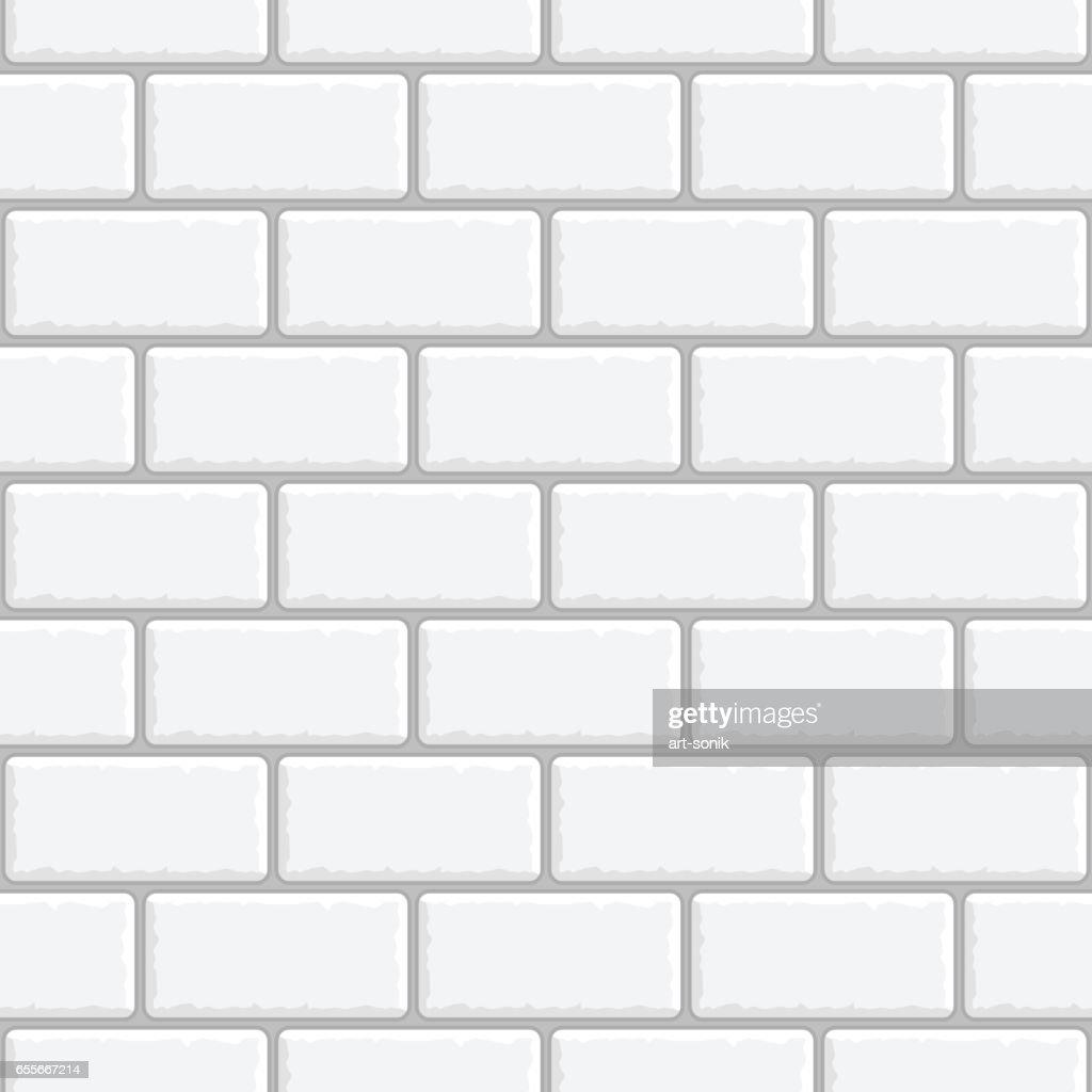 Seamless background white brick wall.
