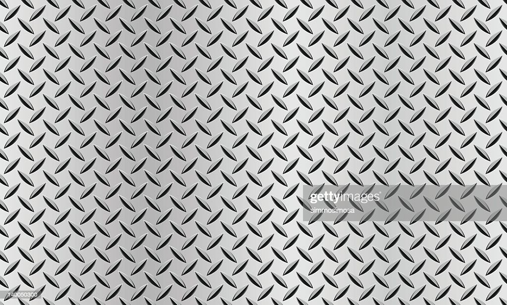 seamless background with a diamond plate texture vector