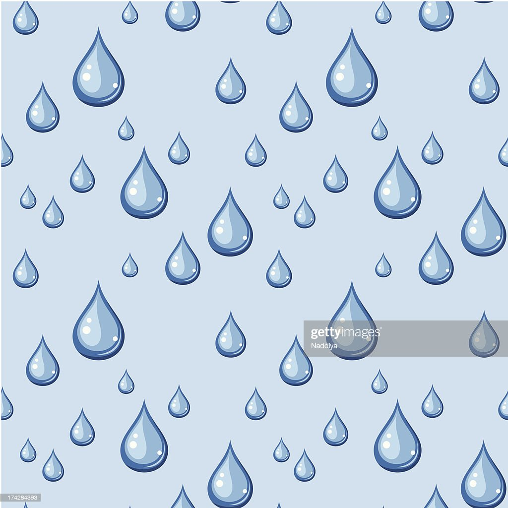 Seamless background with blue drops. Vector illustration.