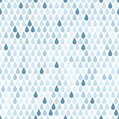 Seamless background with blue rain drops