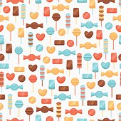 Seamless background with candies