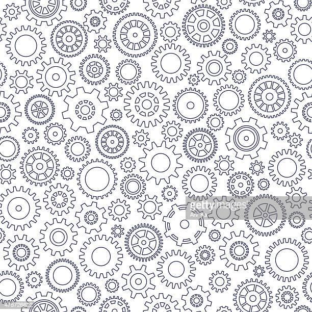 seamless background with gears - cog stock illustrations