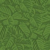 seamless background with green leaves.