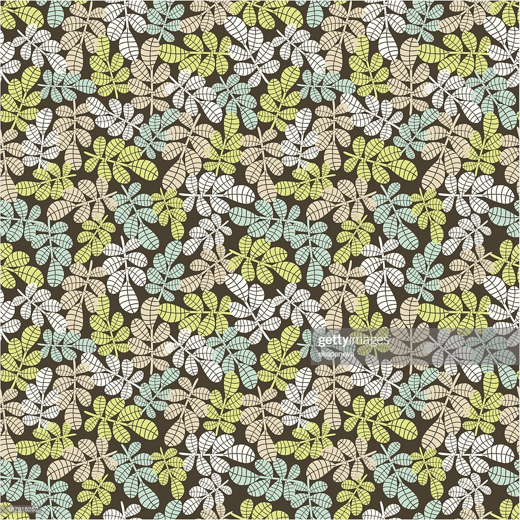 Seamless background with leaves.