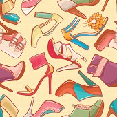 seamless background with women's shoes - 2