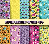 Seamless Backgrounds 80s, 90s
