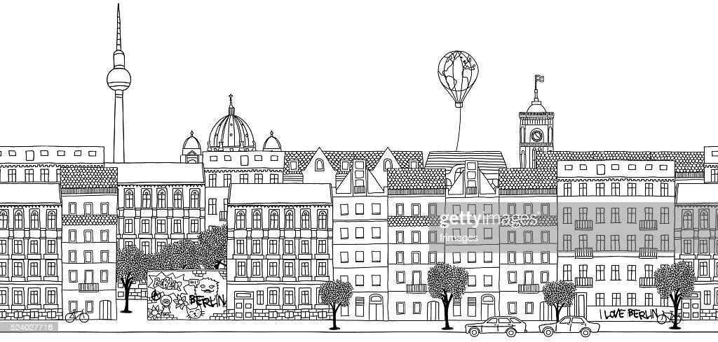 Seamless banner of Berlin's skyline