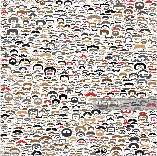 Seamless Beard & Mustache Background