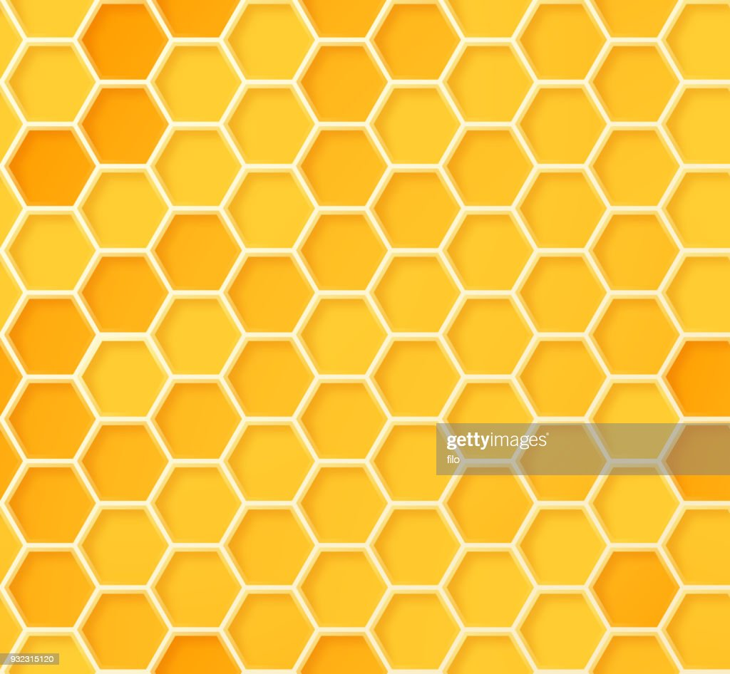 Seamless Beehive Honeycomb Pattern