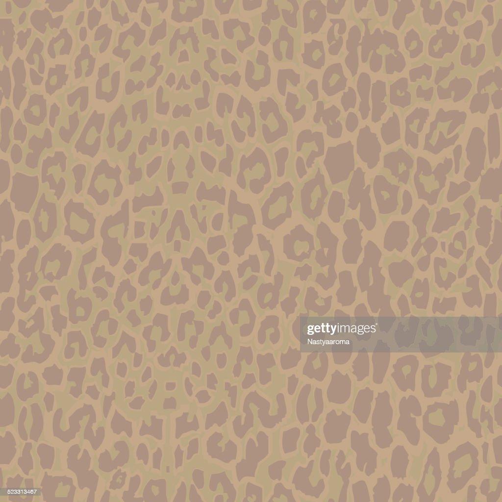 Seamless beige leopard print. 10 eps. leopard fabric texture