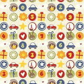 Seamless birthday boy pattern design